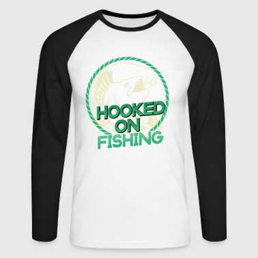 Fishing Design Fishing Hook - Men's Long Sleeve Baseball T-Shirt