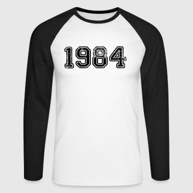 1984 (Black) - Men's Long Sleeve Baseball T-Shirt