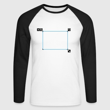 Design frame - Men's Long Sleeve Baseball T-Shirt