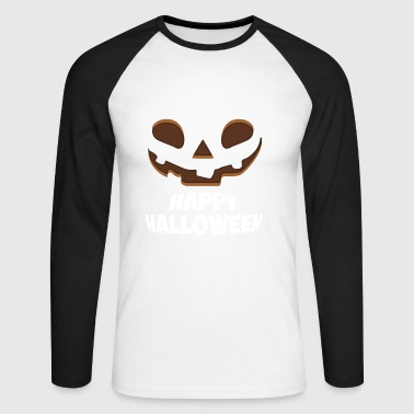 Happy Halloween Face - Men's Long Sleeve Baseball T-Shirt