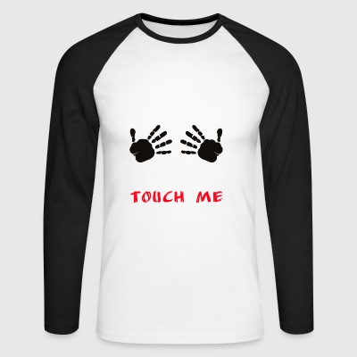 me toucher - T-shirt baseball manches longues Homme