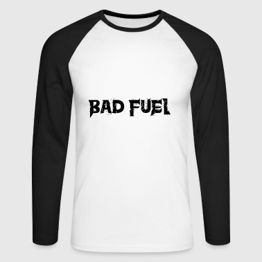 Bad Fuel logo - Men's Long Sleeve Baseball T-Shirt