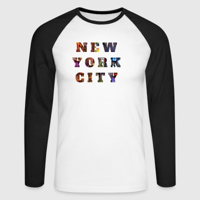 New York City - Langermet baseball-skjorte for menn