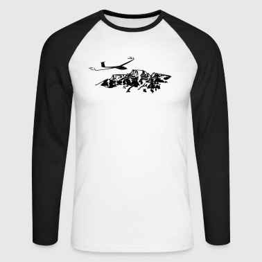 Glider with mountain sports gift T-shirt - Men's Long Sleeve Baseball T-Shirt