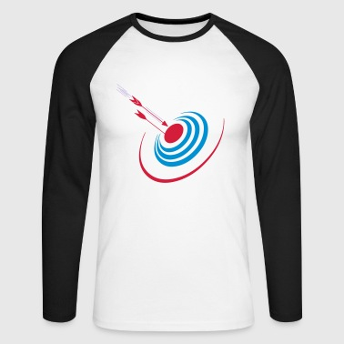 darts print - Men's Long Sleeve Baseball T-Shirt