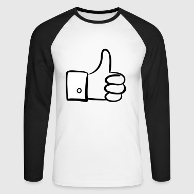 Thumbs up! - Men's Long Sleeve Baseball T-Shirt