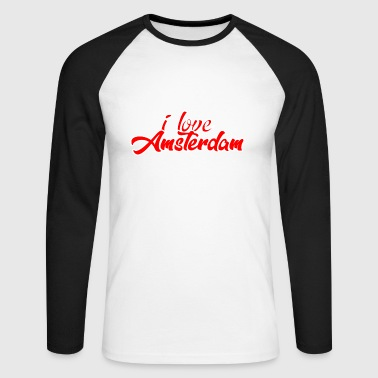 AMSTERDAM - Men's Long Sleeve Baseball T-Shirt