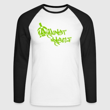 against myself - Männer Baseballshirt langarm