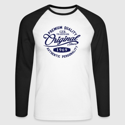 Original Since 1969 Handwriting Premium Quality - Men's Long Sleeve Baseball T-Shirt