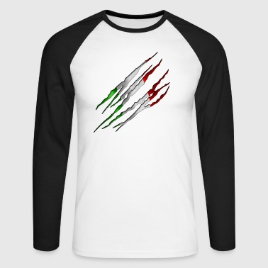 Italie 001 tailladé formes rondes - T-shirt baseball manches longues Homme