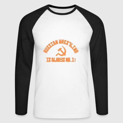 No.1 Wrestling russe - T-shirt baseball manches longues Homme