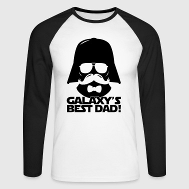 Funny Best Dad of the Galaxy statement - Männer Baseballshirt langarm