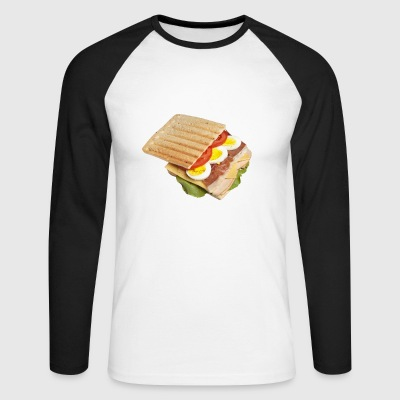 sandwich toast toaster breakfast breakfast18 - Men's Long Sleeve Baseball T-Shirt