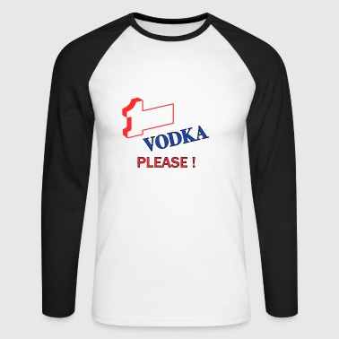 1More Vodka Black - Men's Long Sleeve Baseball T-Shirt
