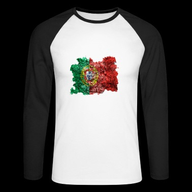 Portugal vintage flag - Men's Long Sleeve Baseball T-Shirt