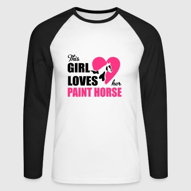 6254398 129692105 Paint Horse - T-shirt baseball manches longues Homme