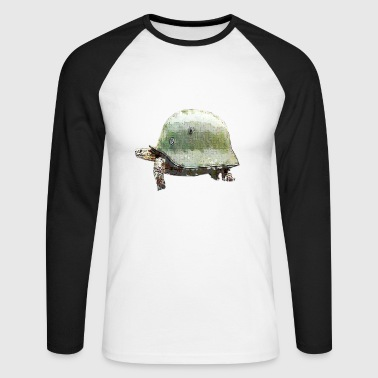 TORTUGA MILITARY HELMET - Men's Long Sleeve Baseball T-Shirt