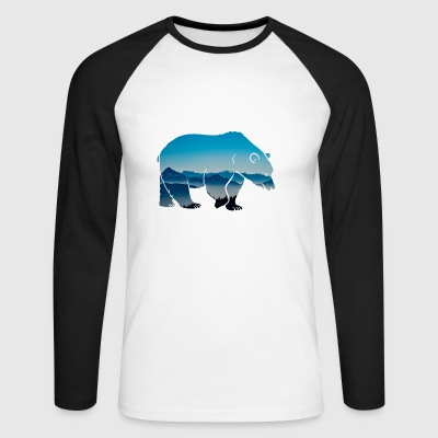 Forest dwellers Forester bear forest nature animal wilderness - Men's Long Sleeve Baseball T-Shirt