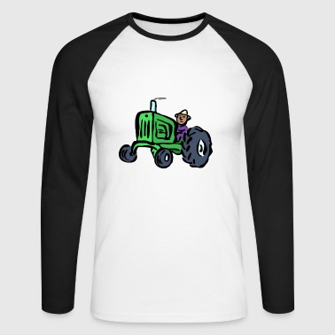 Tractor Farmer T-Shirt Gift Idea - Men's Long Sleeve Baseball T-Shirt