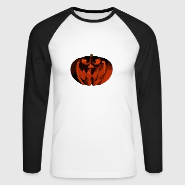 Halloween Citrouille - T-shirt baseball manches longues Homme
