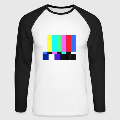 Test Card.Test Pattern. Rétro Television Crew.SALE - T-shirt baseball manches longues Homme