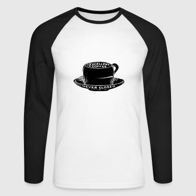 The coffee house is the best! - Men's Long Sleeve Baseball T-Shirt