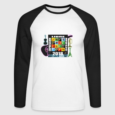 FREE EXPRESSION MUSIC - Men's Long Sleeve Baseball T-Shirt