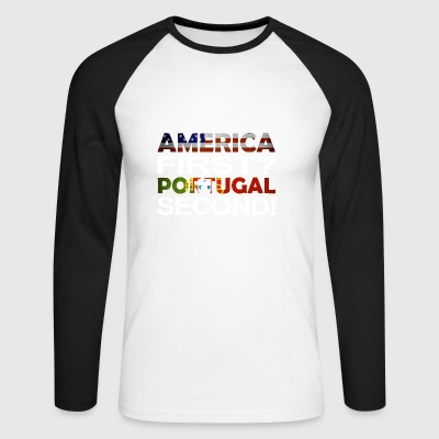 America Portugal - Men's Long Sleeve Baseball T-Shirt