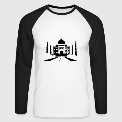 TAJ MAHAL INDIA INDIA GIFT T-SHIRT - Men's Long Sleeve Baseball T-Shirt