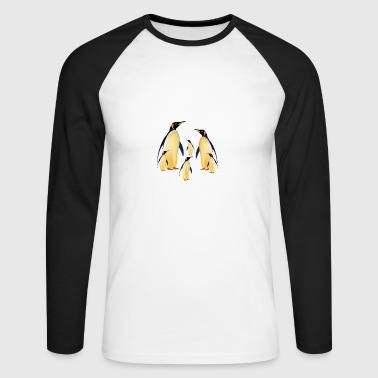 penguin family - Men's Long Sleeve Baseball T-Shirt