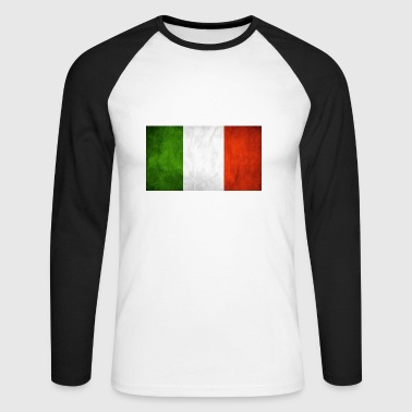 Italian flag - Men's Long Sleeve Baseball T-Shirt