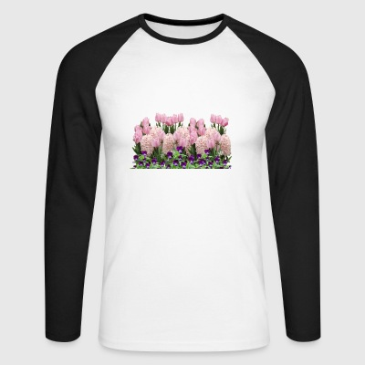 tulips tulips flowers pansy pansy flowers - Men's Long Sleeve Baseball T-Shirt