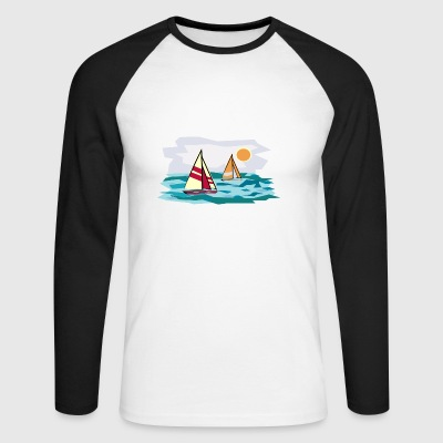 sailing - Men's Long Sleeve Baseball T-Shirt