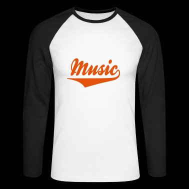 2541614 15228043 musique - T-shirt baseball manches longues Homme
