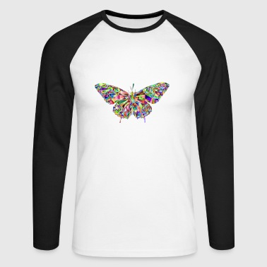 Butterfly Tattoo Eye Catcher as a gift idea - Men's Long Sleeve Baseball T-Shirt