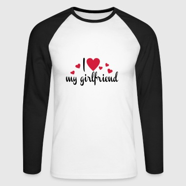 2541614 15452286 Girlfriend - Men's Long Sleeve Baseball T-Shirt