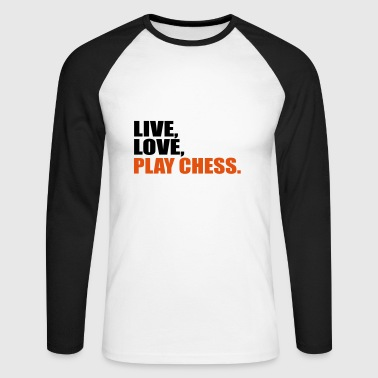 2541614 15412473 Chess - Men's Long Sleeve Baseball T-Shirt