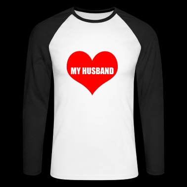husband - Men's Long Sleeve Baseball T-Shirt