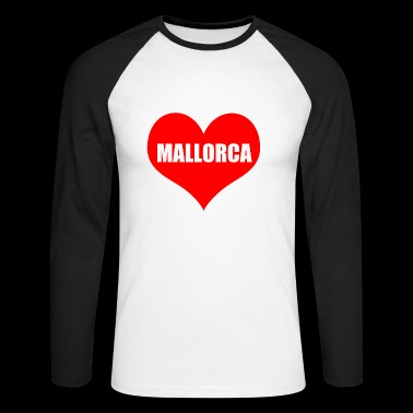 malls heart - Men's Long Sleeve Baseball T-Shirt