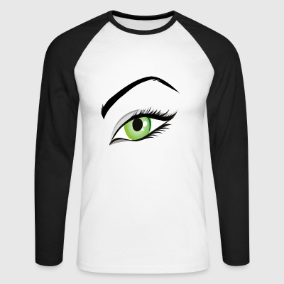 femme oeil - T-shirt baseball manches longues Homme