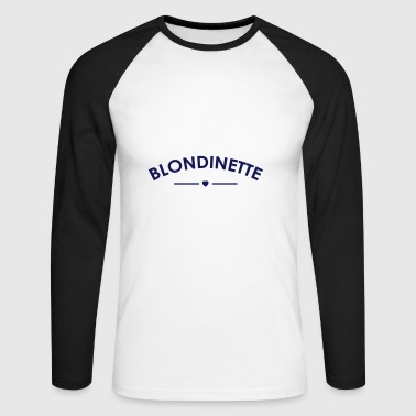 blonde - Langermet baseball-skjorte for menn
