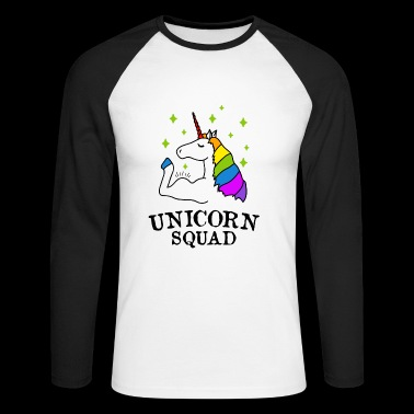 Unicorn Squad Gym Fitness - T-shirt baseball manches longues Homme