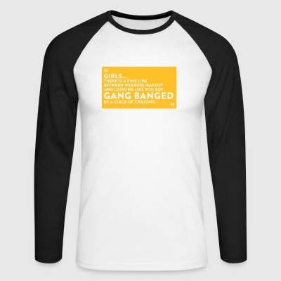 Gangbanged By A Stack Of Crayons - Men's Long Sleeve Baseball T-Shirt