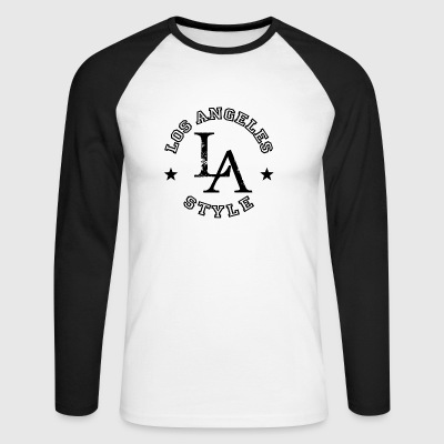 Los Angeles - LA Style - Dance Shirt - Langermet baseball-skjorte for menn