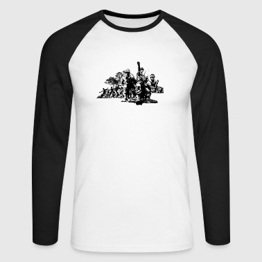 Korean War - Men's Long Sleeve Baseball T-Shirt