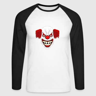 Horror clown - Men's Long Sleeve Baseball T-Shirt
