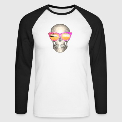 Vacation skull - Men's Long Sleeve Baseball T-Shirt