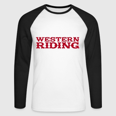 Western Riding - Men's Long Sleeve Baseball T-Shirt