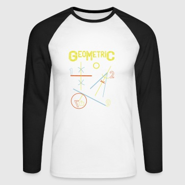 Geometric - Men's Long Sleeve Baseball T-Shirt