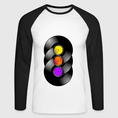 vinyl Chakra - Men's Long Sleeve Baseball T-Shirt